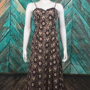Lauren Conrad Runway Maxi Floral Lace Dress 6